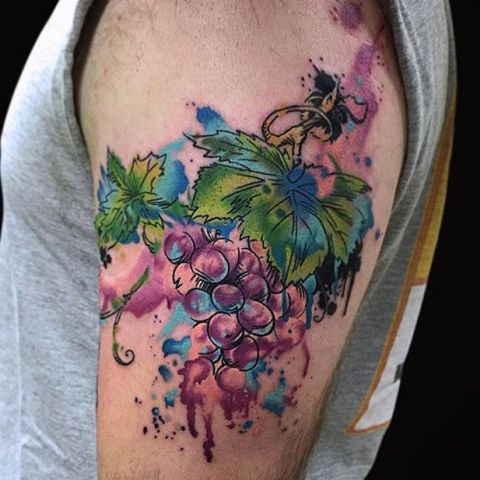 Watercolor tattoo idea