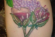 Wine glasses and grape tattoo