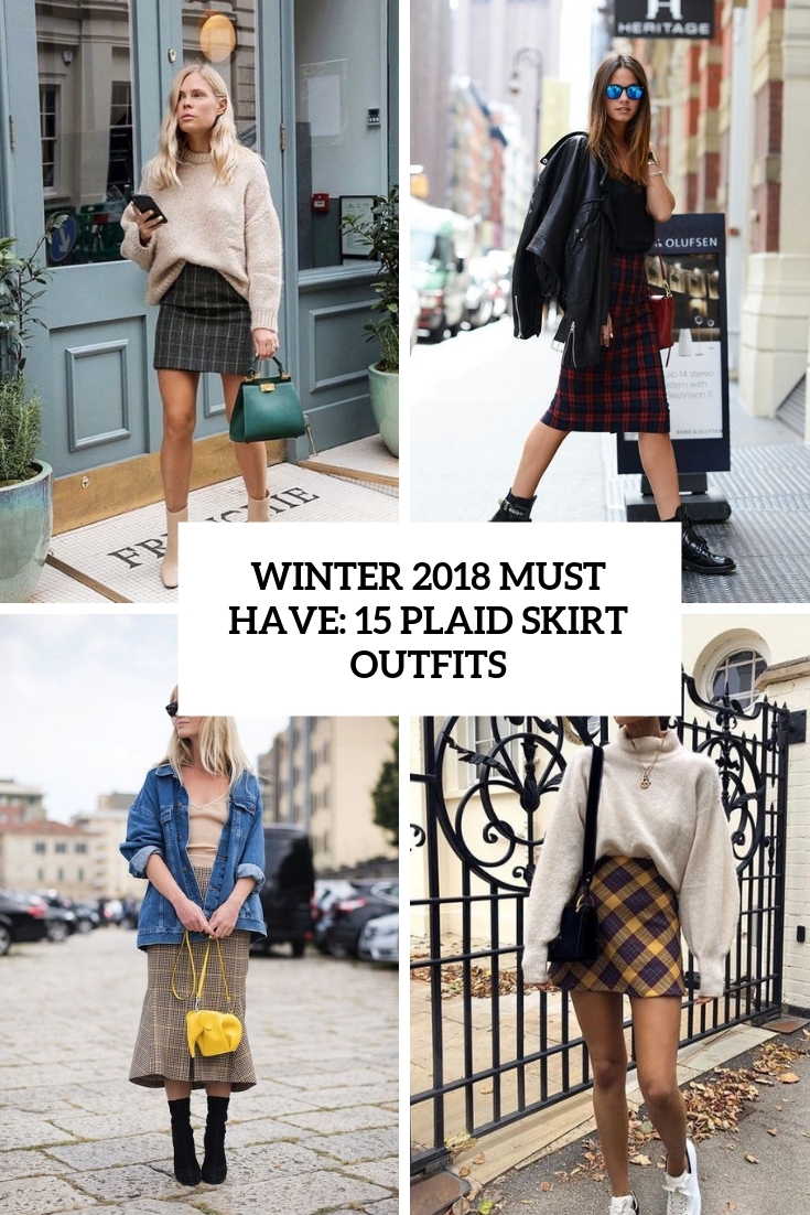 winter must have 15 plaid skirt outfits cover