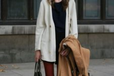 stylish office-worthy look for winter with a cardigan