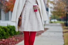 cute look with red tights