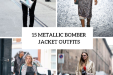 15 Amazing Outfit Ideas With Metallic Bomber Jackets