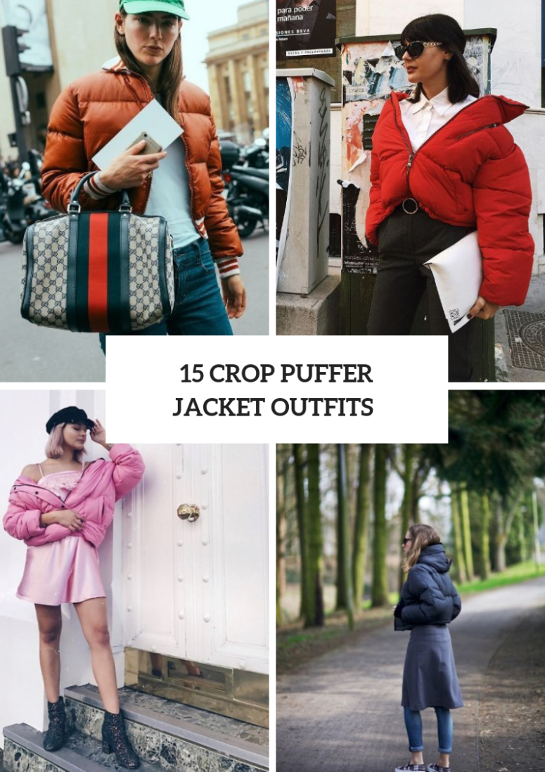15 Cozy Outfits With Crop Puffer Jackets
