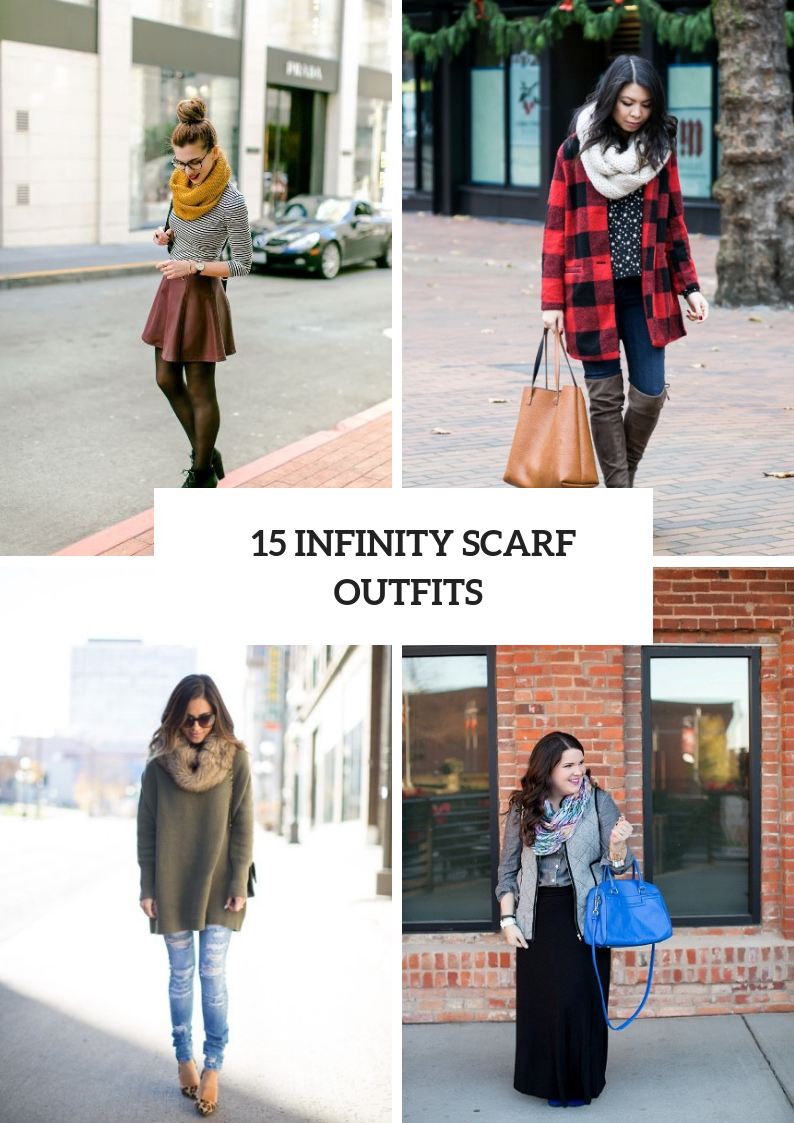 Cozy Outfits With Infinity Scarves