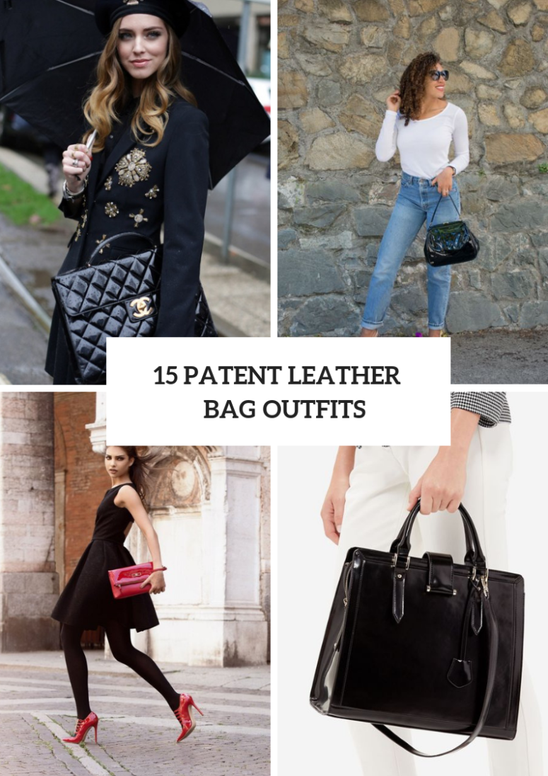 Feminine Looks With Patent Leather Bags