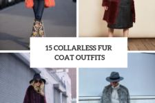 15 Winter Outfits With Collarless Fur Coats