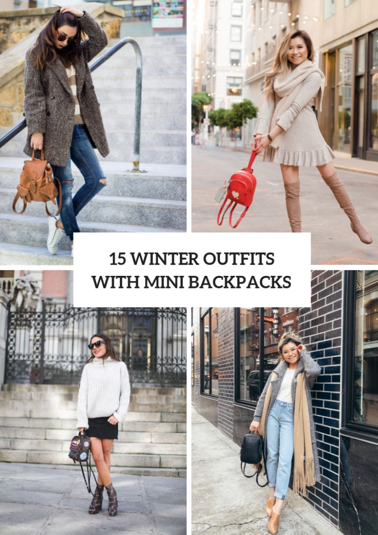 Winter Outfits With Cute Mini Backpacks