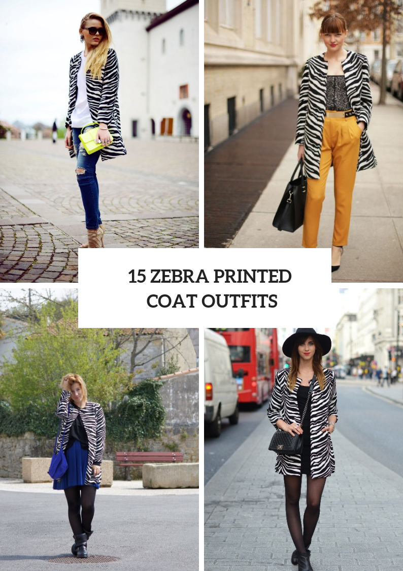 Winter Outfits With Zebra Printed Coats