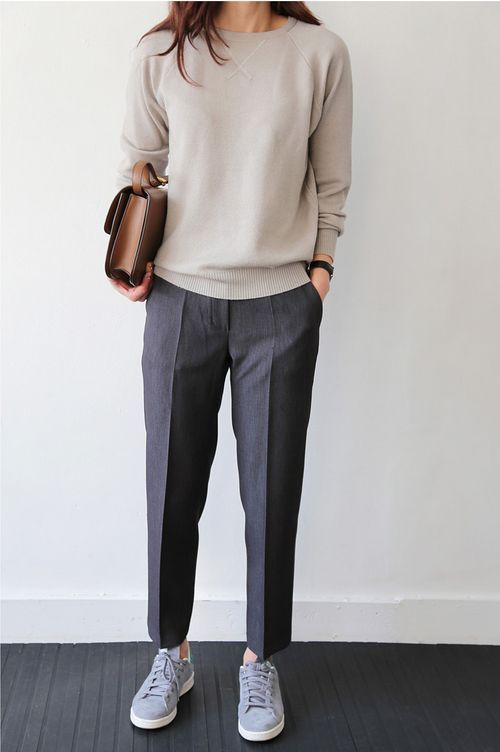 a plain sweater can be worn to work or any other space you want