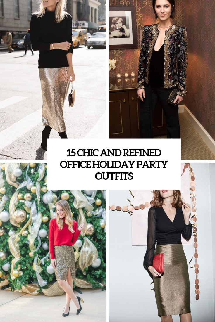 15 Chic Ways To Tie A Scarf: 15 Chic And Refined Office Holiday Party Outfits