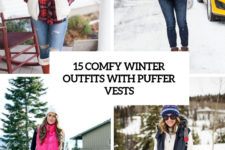 15 comfy winter outfits with puffer vests cover