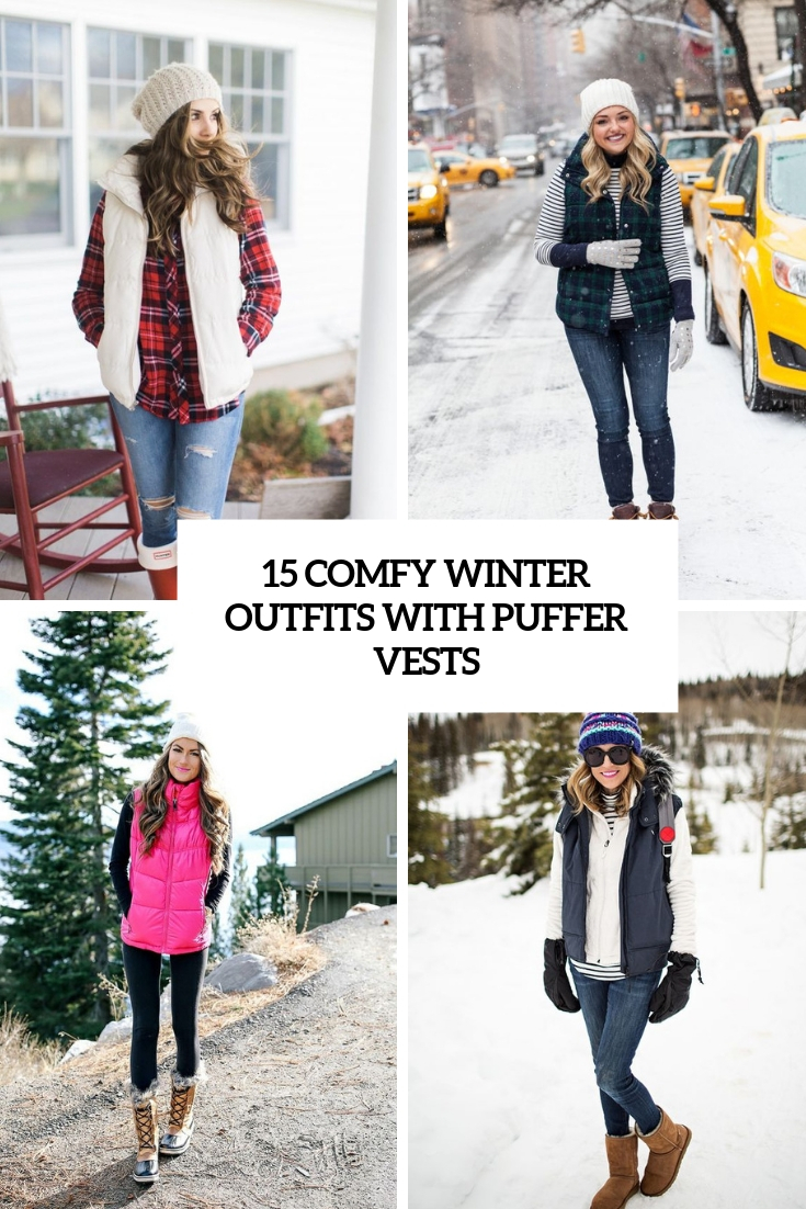 comfy winter outfits with puffer vests cover