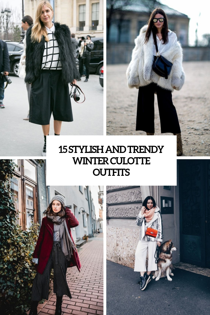 cool and trendy winter culotte outfits cover