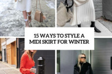 15 ways to style a midi skirt for winter cover
