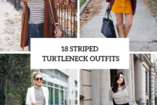 18 Chic Outfits With Striped Turtlenecks