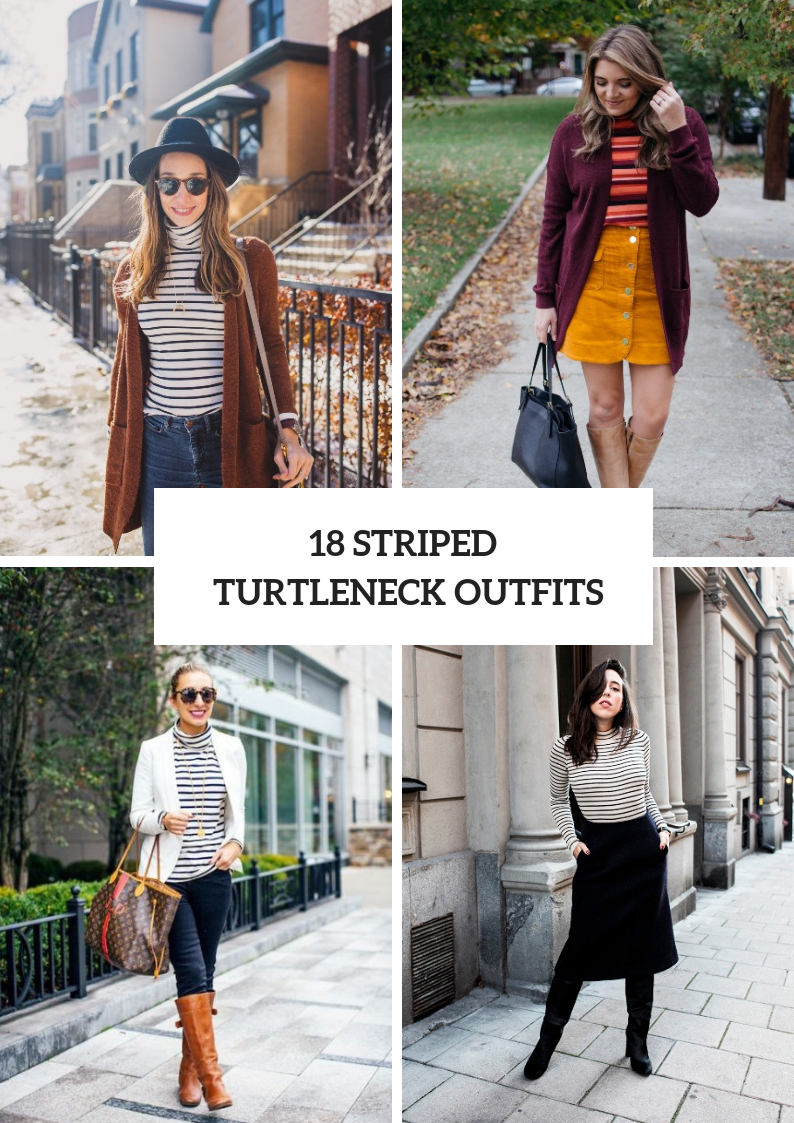 Chic Outfits With Striped Turtlenecks