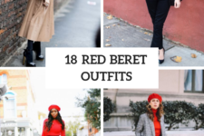 18 Fall Outfits With Red Berets