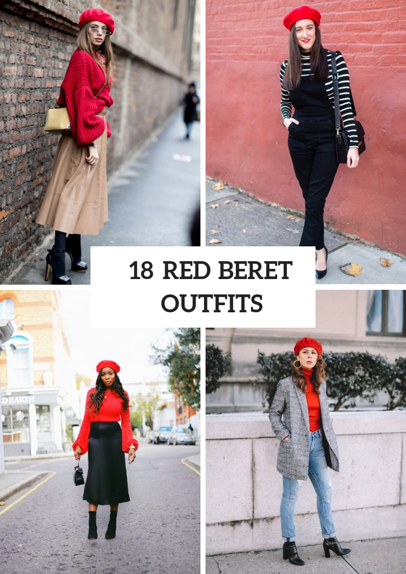 Fall Outfits With Red Berets