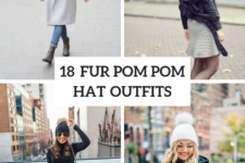 18 Women Outfits With Fur Pom Pom Hats