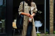 fall look with a trench coat