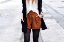 chic fall look with ankle boots