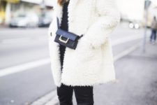 black and white winter look