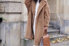 winter look with leopard print shoes