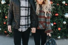 trendy holiday couple's look