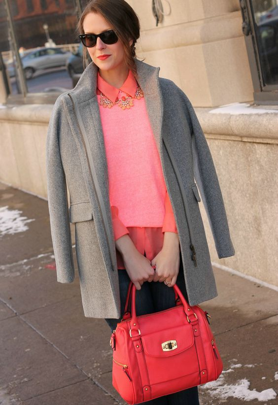 15 Trendy Living Coral Outfits To Rock This Winter Styleoholic