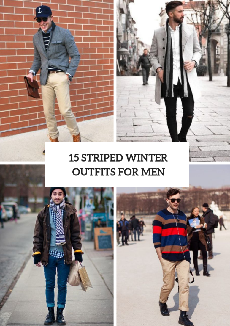 Awesome Striped Winter Outfits For Men