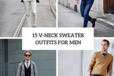 15 Men Outfits With V-Neck Sweaters