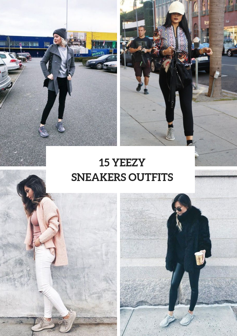 Stylish Women Outfits With Yeezy Sneakers