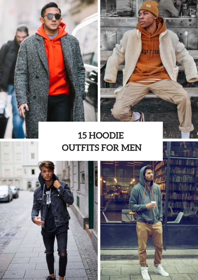 15 Winter Looks With Hoodie Sweatshirts For Men