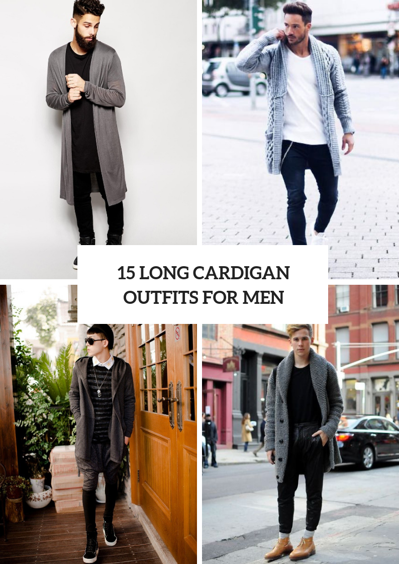 Winter Outfits With Long Cardigans For Men