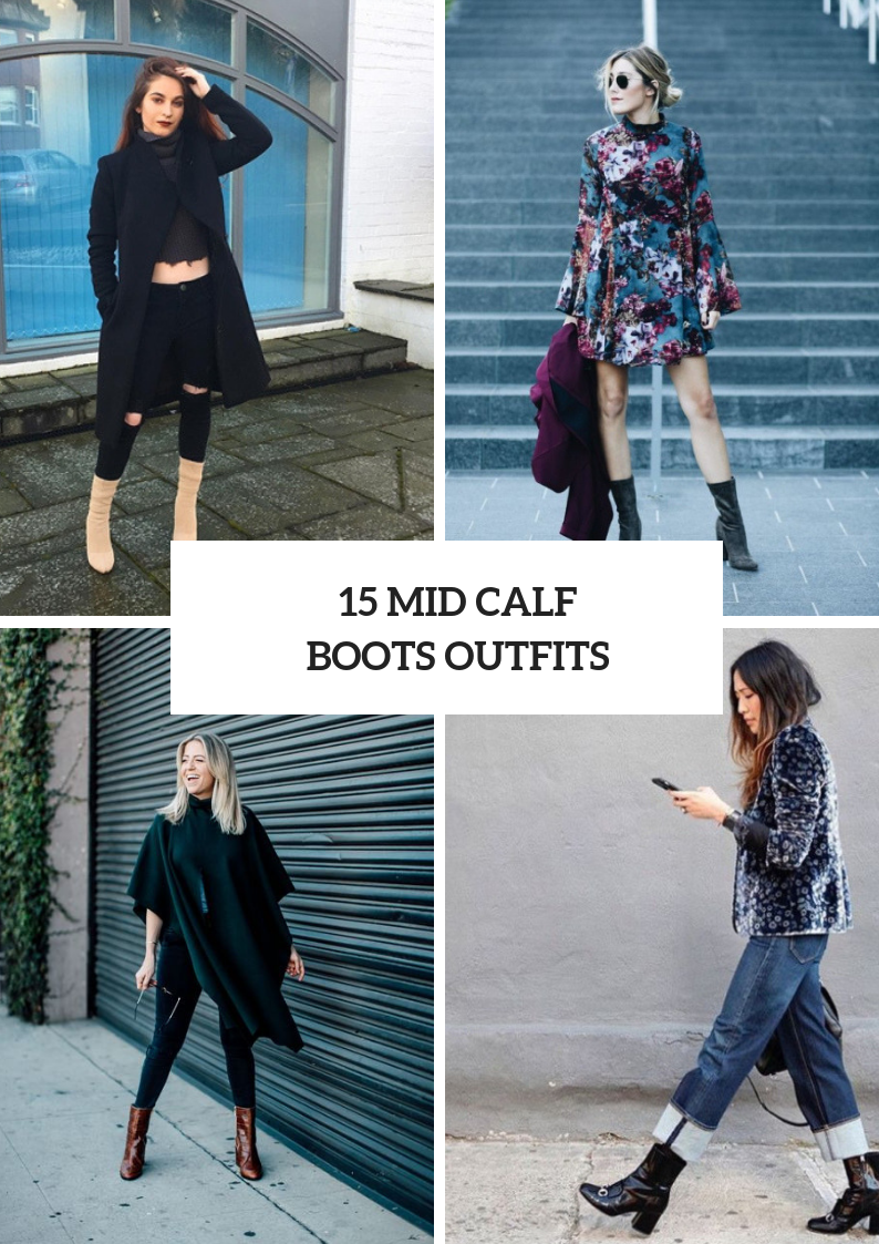 Winter Outfits With Mid Calf Boots