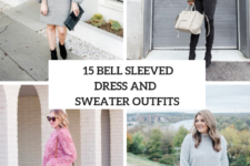 15 Women Outfits With Bell Sleeved Sweaters And Sweater Dresses