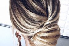 an elegant hairstyle for Christmas