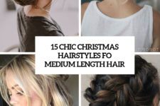 15 chic christmas hairstyles for medium length hair cover