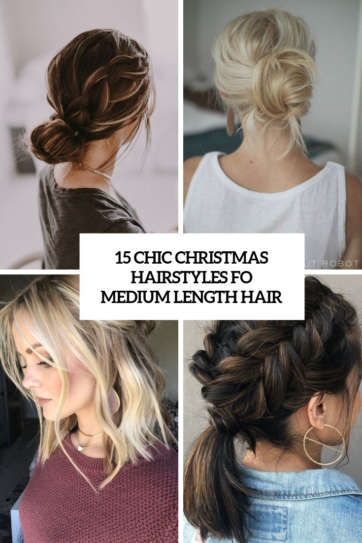 chic christmas hairstyles for medium length hair cover