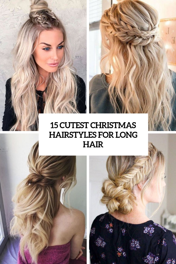 cutest christmas hairstyles for long hair cover