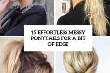 15 effortless messy ponytails for a bit of edge cover