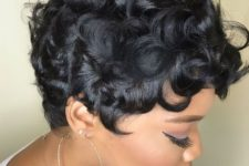 02 a curly piecey pixie haircut on African hair looks really amazing