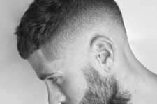 02 a high skin fade, a crew cut and a beard is a hot idea to rock and looks very modern