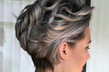 a women over 50's short hairstyle with waves