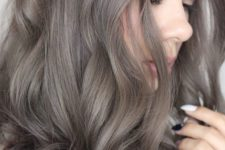 02 ashy brown locks is a fresh and bold take on usual brown hair and a way to spruce it up
