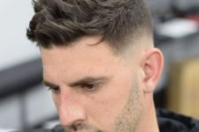 03 a textured crew cut and nid fade sides create a bold modern look
