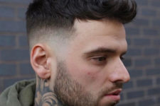 04 a French crop with spiky fringe delivers a rugged finished look and a beard adds to it