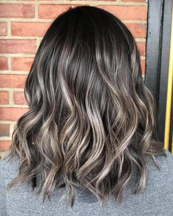 a balayage bob with ashy brown balayage is a natural looking and simple idea