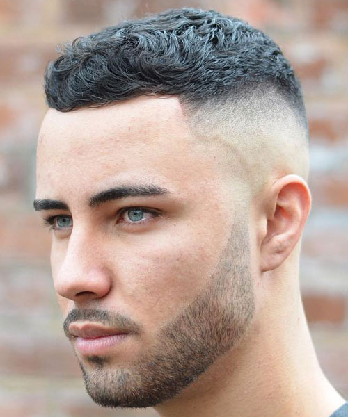 a modern crew cut is an edgy way to stand out and you may combine it with a beard for a catchier look