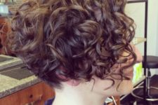 04 a naturally curly angled short bob doesn't require much maintaining and looks dimensional